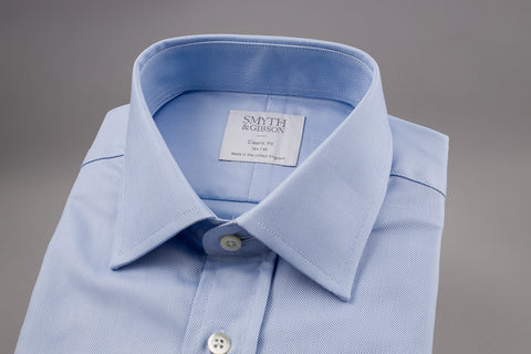 SMYTH & GIBSON CLASSIC FIT OXFORD SHIRT IN LIGHT BLUE - Smyth & Gibson Shirts