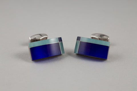 Tateossian Blue Cufflinks - Smyth & Gibson Shirts