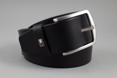 Tommy Hilfiger Denton Leather Belt in Black