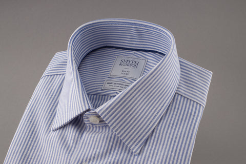 Bengal Stripe Blue Tailored fit shirt by Smyth and Gibson - Smyth & Gibson Shirts