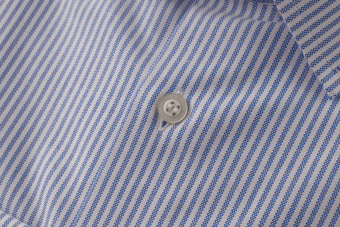 Bengal Stripe Blue Slim fit shirt by Smyth and Gibson
