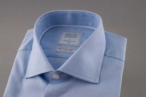 Blue Oxford Cutaway Collar Shirt by Smyth & Gibson