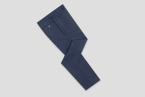 Remus Uomo Slim Fit Wool-Blend Stretch Mix & Match Suit Trousers in Navy - Smyth & Gibson Shirts