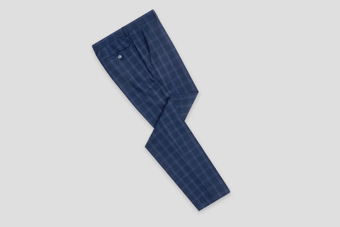 Remus Uomo X-Slim Fit Checked Wool-Blend Stretch Mix & Match Suit Trousers - Smyth & Gibson Shirts