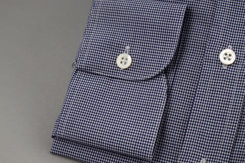 Smyth & Gibson Gingham Slim Penny Square in Checked Navy