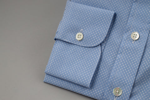 Smyth & Gibson Box Print Slim Penny Square in Blue