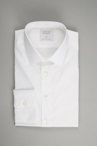 Smyth & Gibson Oxford Slim Penny Square in White