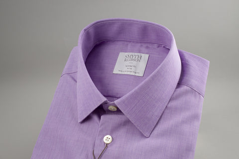 Smyth & Gibson End on End Tailored Penny Square in Purple - Smyth & Gibson Shirts