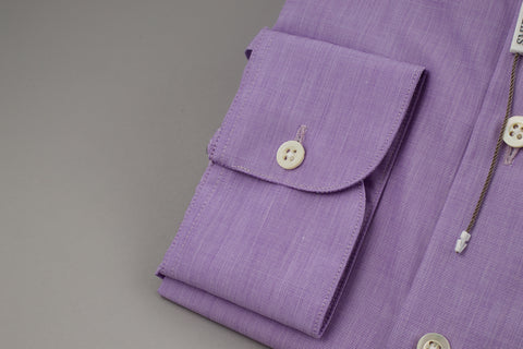 Smyth & Gibson End on End Tailored Penny Square in Purple