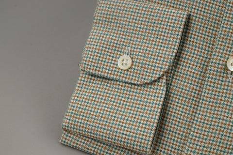 Smyth & Gibson Tailored Penny Square in Checked Green