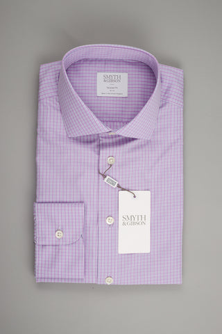 Smyth & Gibson Tailored Albany in Multi Checked Lilac