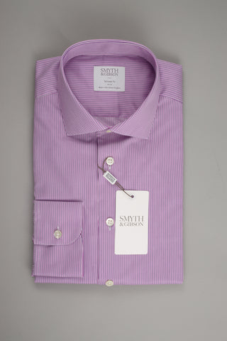 Smyth & Gibson Tailored Albany in Multi Twisted Lilac Stripes