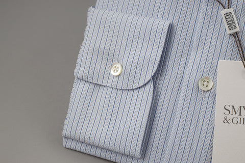 Smyth & Gibson Tailored Albany Textured in Navy Pin Stripe