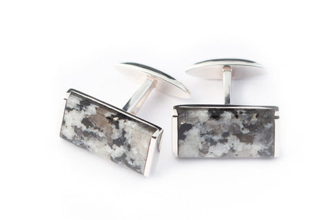 ALISTAIR-R X SMYTH AND GIBSON 'DONEGAL GRANITE' CUFFLINKS - Smyth & Gibson Shirts