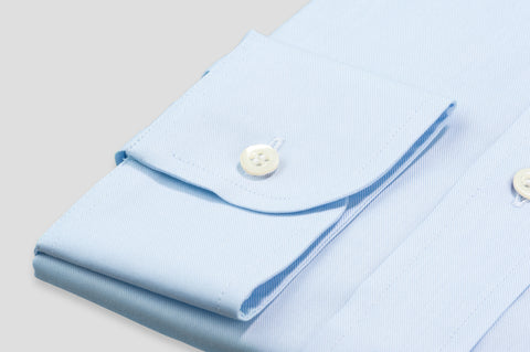 Smyth & Gibson Plain Twill Classic Fit Shirt in Sky Blue