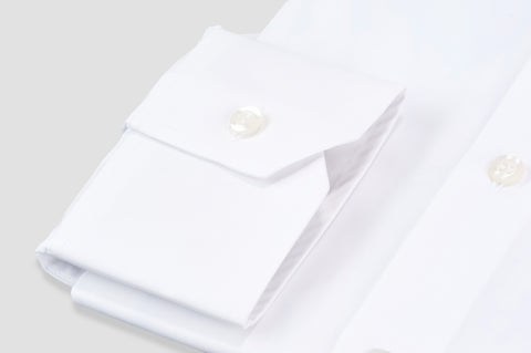 Smyth & Gibson S.W.E. Non-Iron Plain Poplin Contemporary Fit Shirt in White