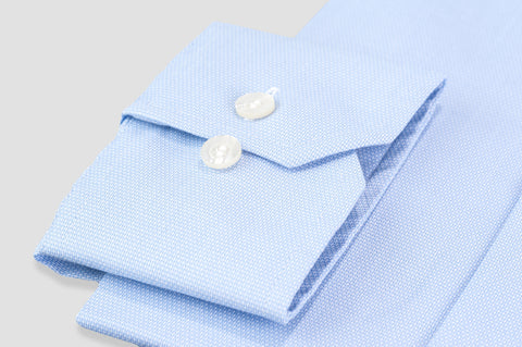 Smyth & Gibson S.W.E. Non Iron Pique Contemporary Fit Shirt in Sky Blue