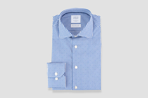 Smyth & Gibson S.W.E. Non Iron Gingham Dobby Contemporary Fit Shirt in Navy