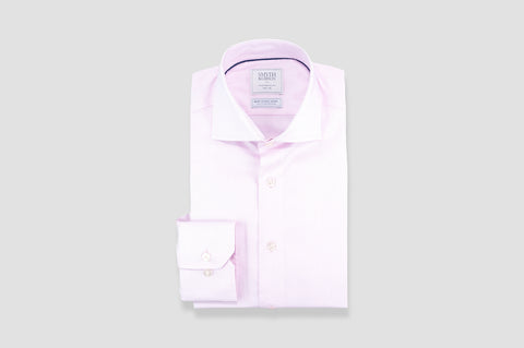 Smyth and Gibson Non Iron Micro Pique Dashes Contemporary Fit Shirt in Pink