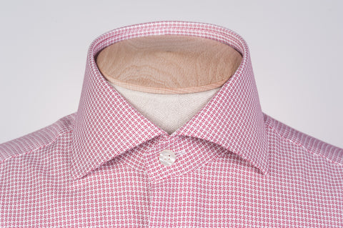 Smyth & Gibson S.W.E. Non Iron Textured Check Contemporary Fit Shirt in Red