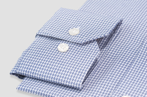 Smyth & Gibson S.W.E. Non Iron Textured Check Contemporary Fit Shirt in Navy