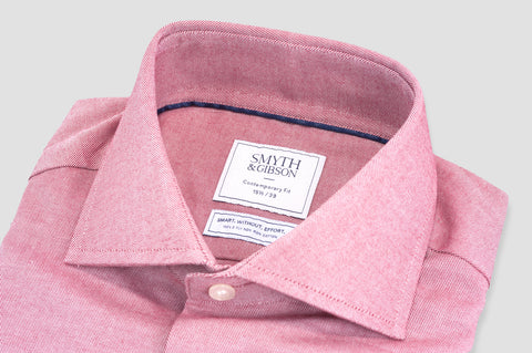 Smyth & Gibson S.W.E. Peached Twill Contemporary Fit Shirt in Red - Smyth & Gibson Shirts