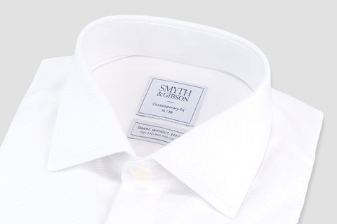 Smyth & Gibson S.W.E. Non Iron Marcella Contemporary Fit Dinner Shirt in White - Smyth & Gibson Shirts