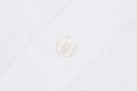 Smyth and Gibson Non Iron Herringbone Twill Penny Square Collar Contemporary Fit Shirt in White