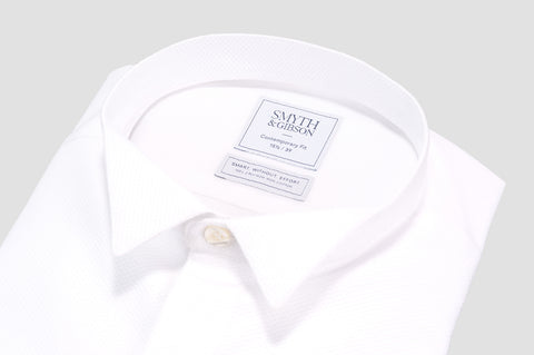 Smyth and Gibson Non Iron Marcella Wing Collar Contemporary Fit Shirt in White