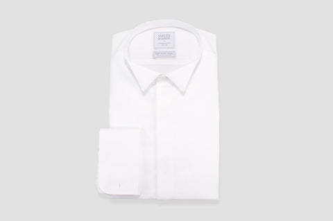 Smyth & Gibson S.W.E. Non Iron Marcella Wing Collar Contemporary Fit Shirt in White
