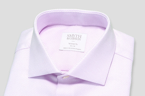 Smyth & Gibson Heavy Texture Tailored Fit Shirt in Pink