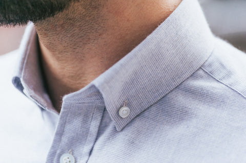Smyth & Gibson Textured Brushed Cotton Tailored-Short Fit Shirt in Light Grey