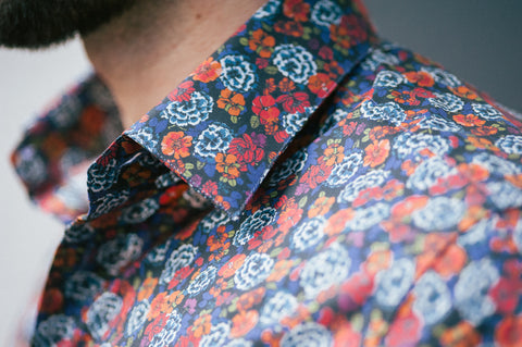 Smyth & Gibson Floral Print Slim Fit Shirt in Red & Orange - Smyth & Gibson Shirts