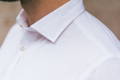 Smyth & Gibson 100% Luxury Irish Linen Shirt in White