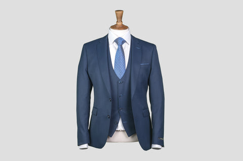 Remus Uomo Slim Fit Wool-Blend Stretch Mix & Match Suit Jacket in Navy - Smyth & Gibson Shirts