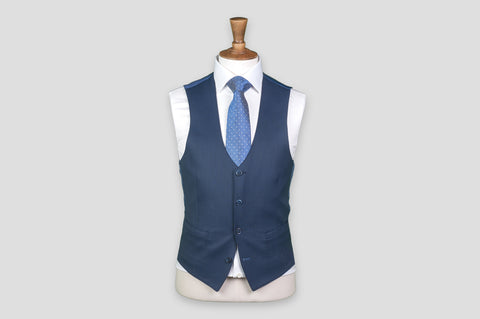 Remus Uomo Slim Fit Wool-Blend Stretch Mix & Match Suit Waistcoat in Navy - Smyth & Gibson Shirts