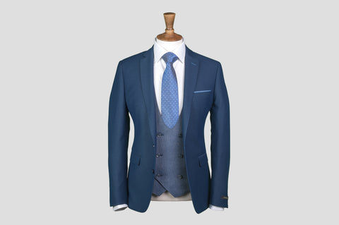 Remus Uomo Slim Fit 3 Piece Suit With Contrast Jacket - Smyth & Gibson Shirts
