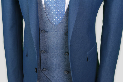 Remus Uomo Slim Fit 3 Piece Suit With Contrast Jacket
