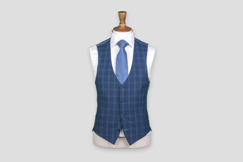 Remus Uomo X-Slim Fit Checked Wool-Blend Stretch Mix & Match Suit Waistcoat - Smyth & Gibson Shirts