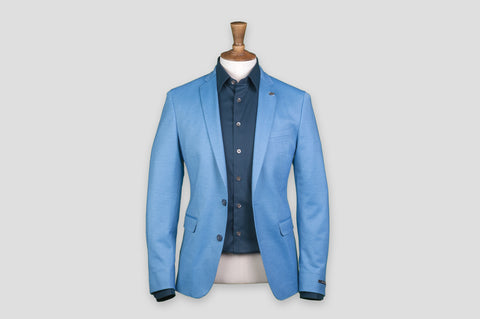 Remus Uomo Slim Fit Cotton-Blend Mix & Match Suit Jacket in Light Blue - Smyth & Gibson Shirts