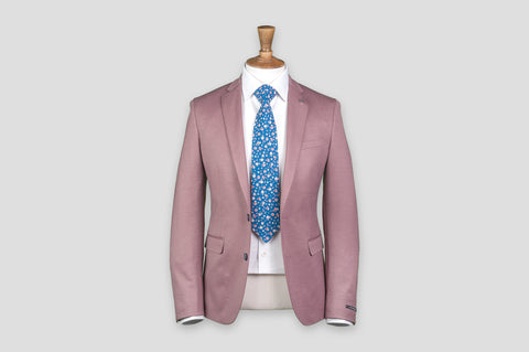 Remus Uomo Slim Fit Cotton-Blend Mix & Match Suit Jacket in Pink