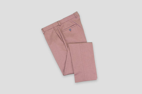 Remus Uomo Slim Fit Cotton-Blend Mix & Match Suit Trousers in Pink - Smyth & Gibson Shirts