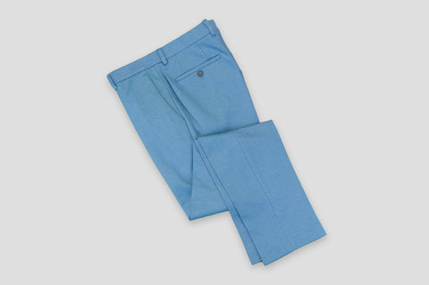 Remus Uomo Slim Fit Cotton-Blend Mix & Match Suit Trousers in Light Blue - Smyth & Gibson Shirts