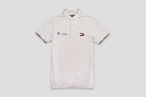 Tommy Hilfiger x Mercedes Benz Cotton Polo Shirt in Grey - Smyth & Gibson Shirts
