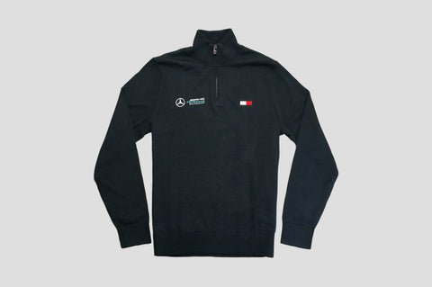 Tommy Hilfiger x Mercedes Benz Logo Zipped Jumper in Navy - Smyth & Gibson Shirts