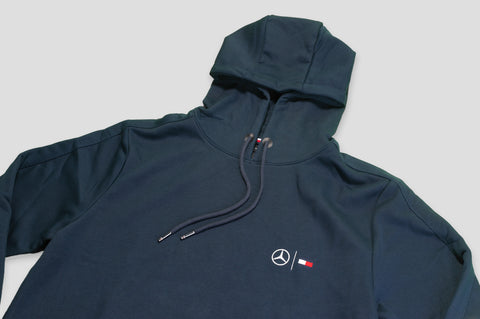 Tommy Hilfiger x Mercedes Benz Drawstring Hoody in Navy