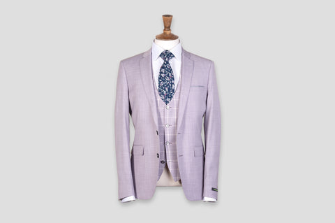 Remus Uomo X-Slim Fit Wool-Blend Stretch 3 Piece Suit in Pink - Smyth & Gibson Shirts