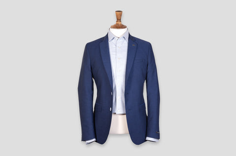 Remus Uomo Slim Fit Cotton Jacket in Blue - Smyth & Gibson Shirts
