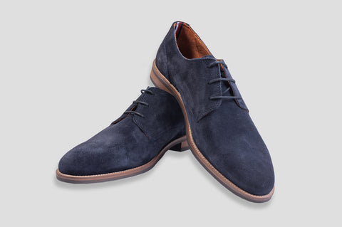 Tommy Hilfiger Classic Suede Derby Shoes in Midnight - Smyth & Gibson Shirts