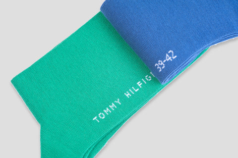 Tommy Hilfiger 2-Pack Socks in Blue & Green